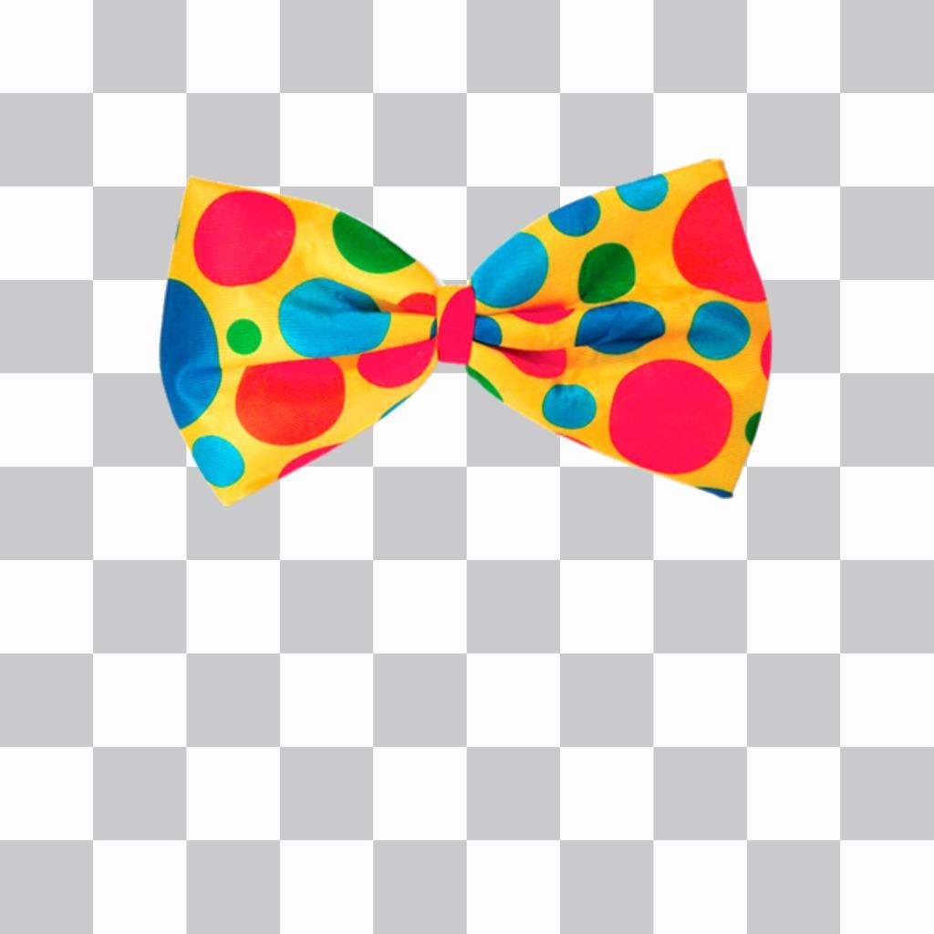 Autocollant coloré dun noeud papillon
