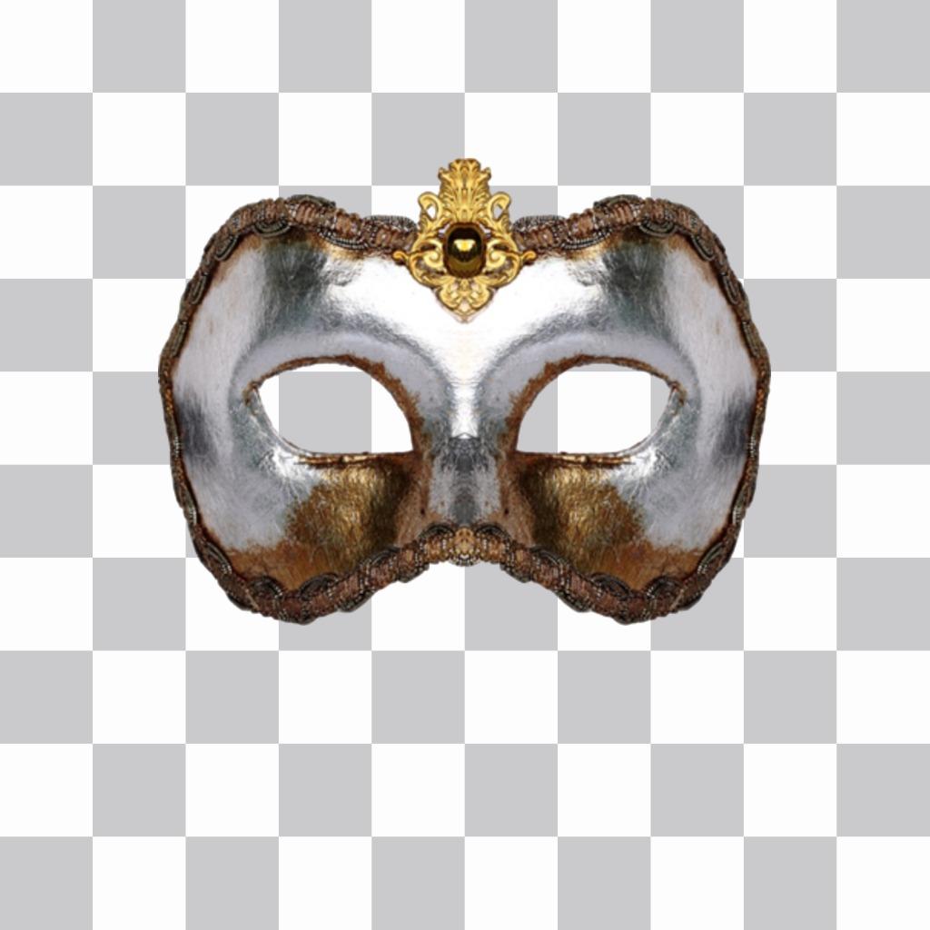 Autocollant dun masque vénitien