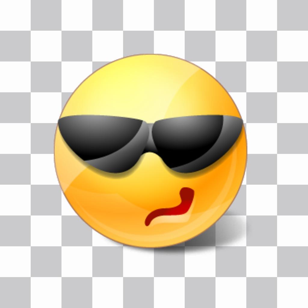 Smiley avec des lunettes à mettre sur vos photos