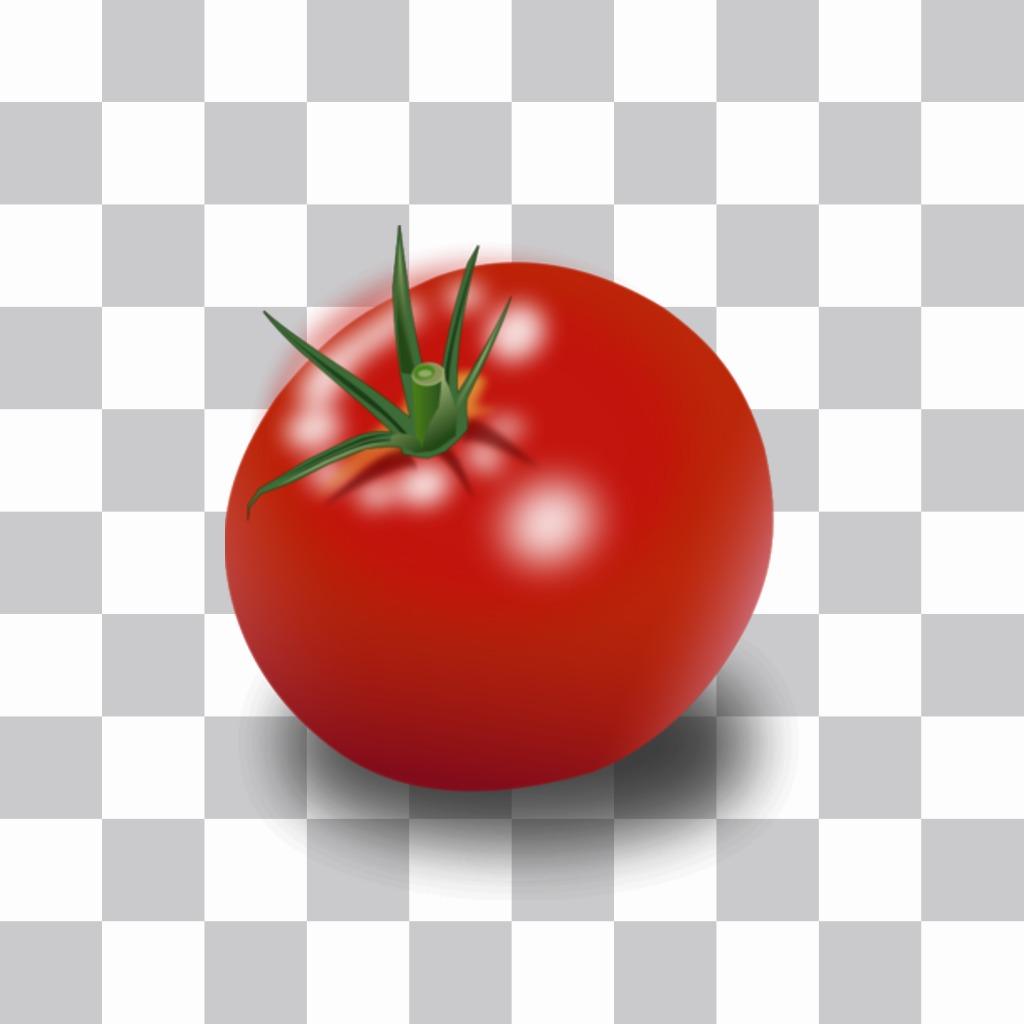 Autocollant tomate pour cacher les visages dans les photos. Photomontage ligne