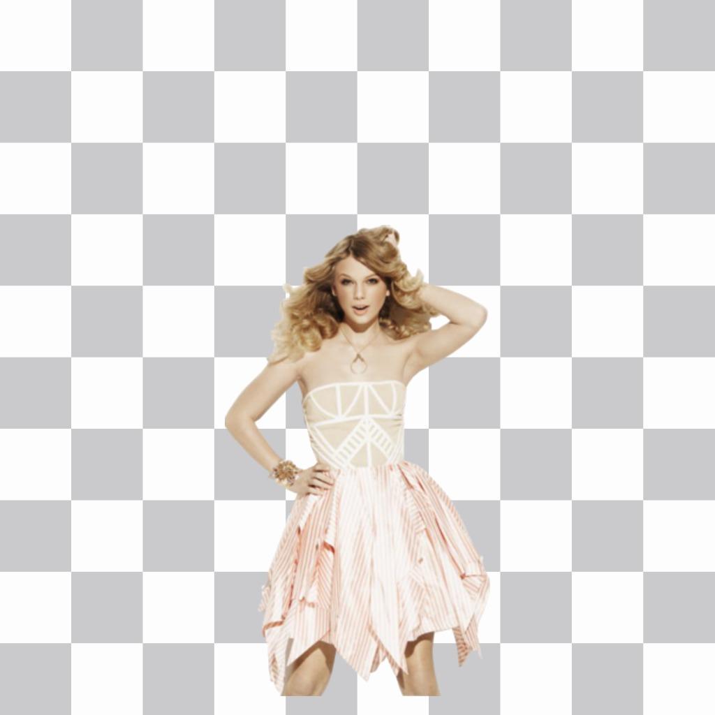 Mettez la silhouette de Taylor Swift sur la photo que vous voulez, ce qui rend leffet est de votre côté!