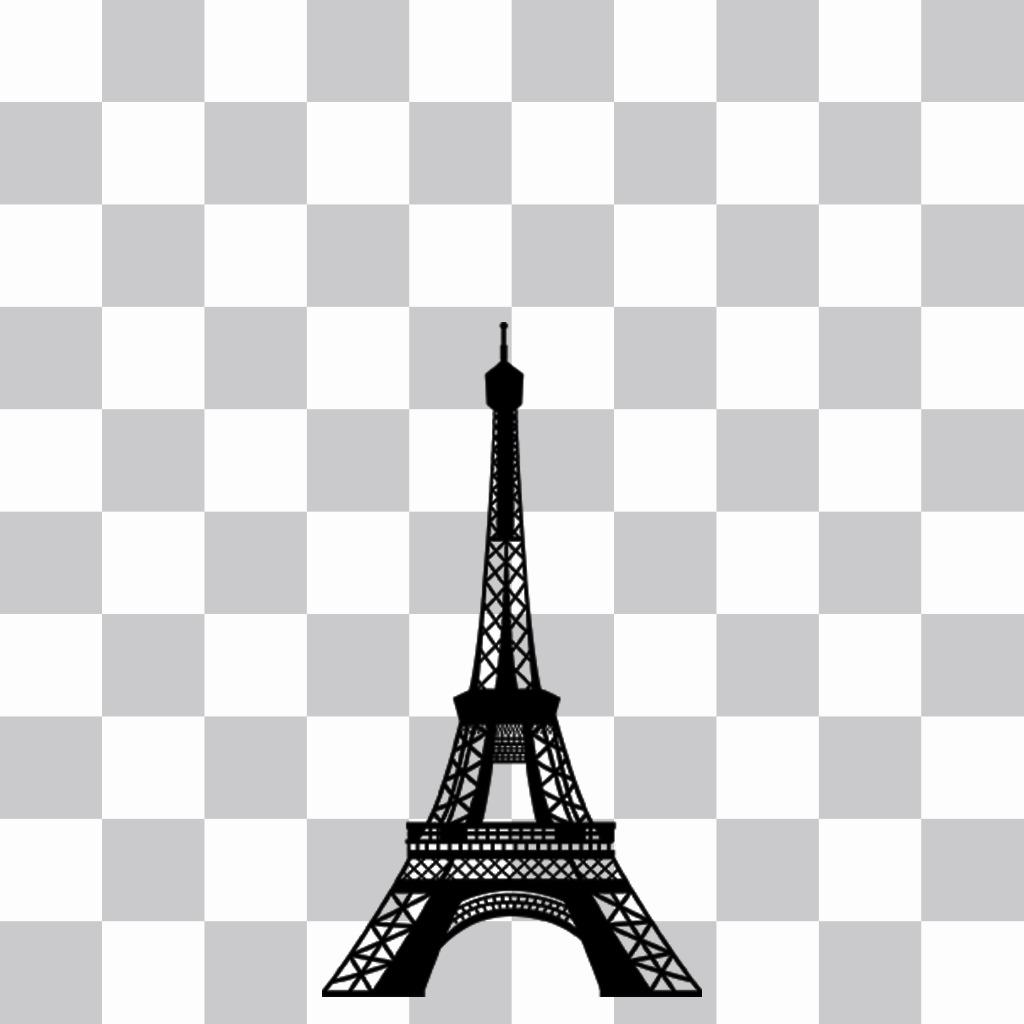 Autocollant Tour Eiffel à mettre sur votre photo de profil avec notre éditeur en ligne. autocollant en ligne