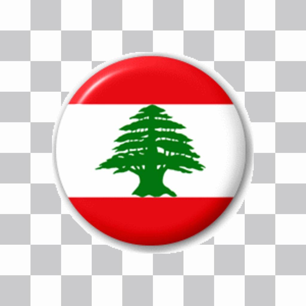 Badge avec le drapeau du Liban à mettre sur votre photo de profil Facebook ou Twitter