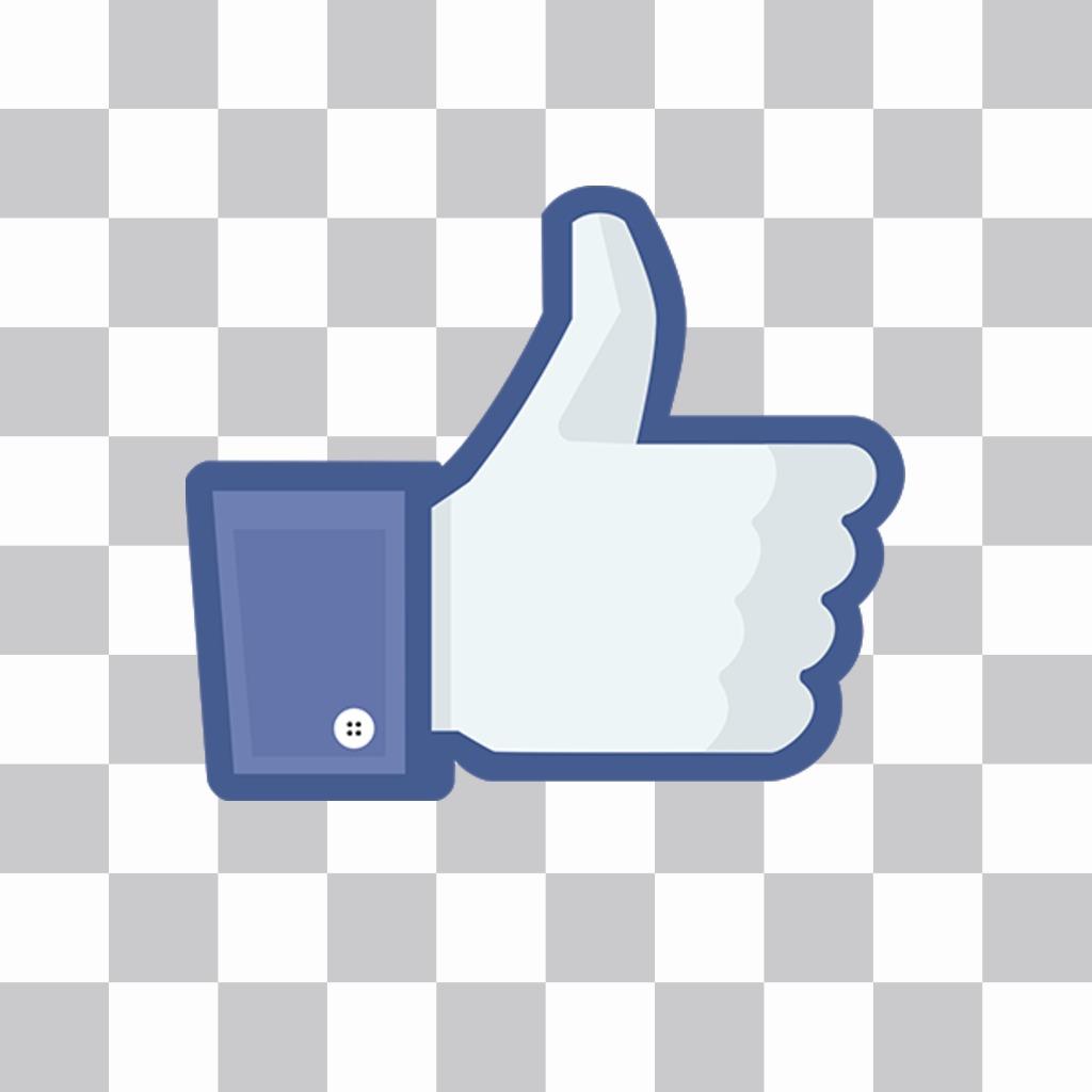 Thumb up autocollant en ligne pour vos photos