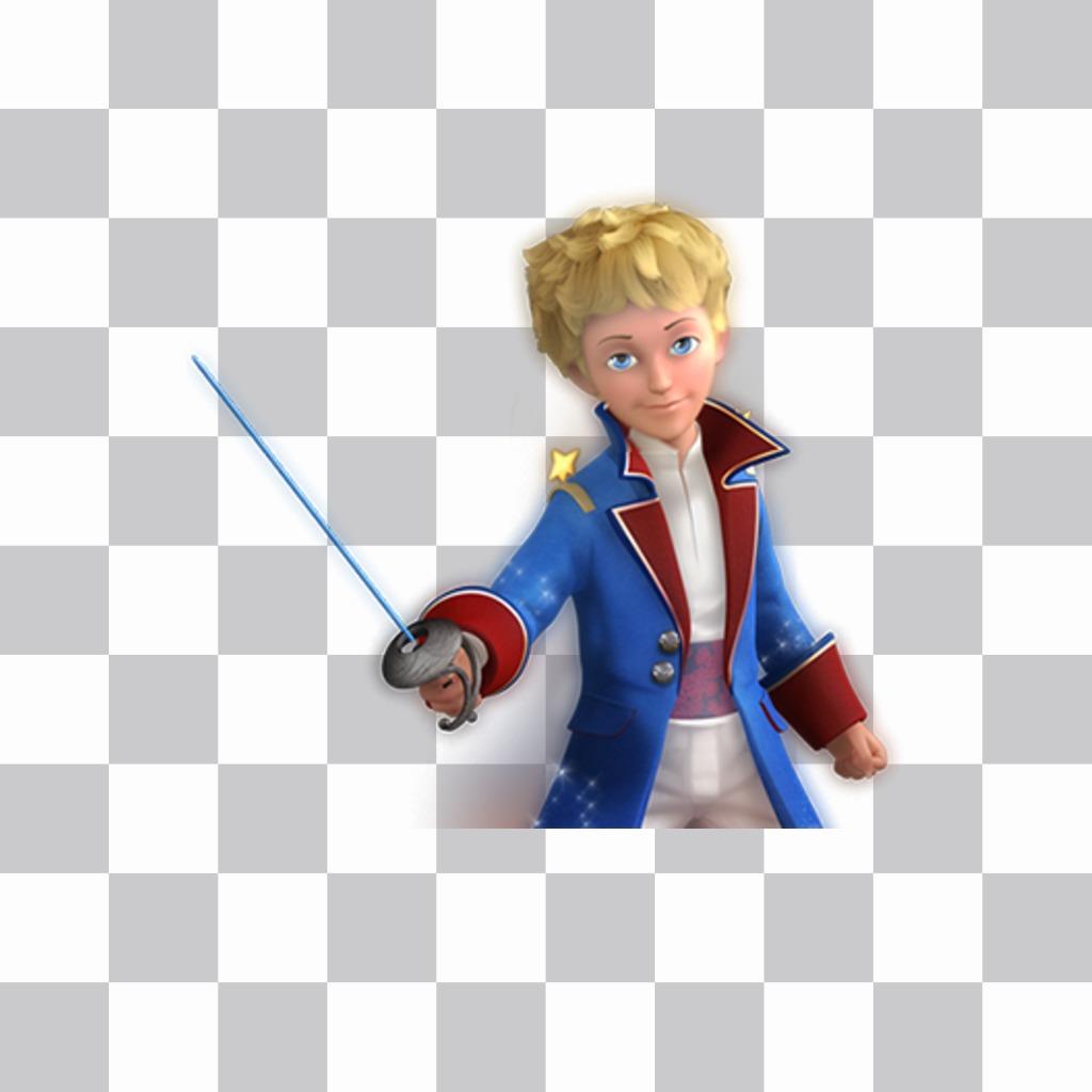 Autocollant du caractère Petit Prince à mettre sur vos photos