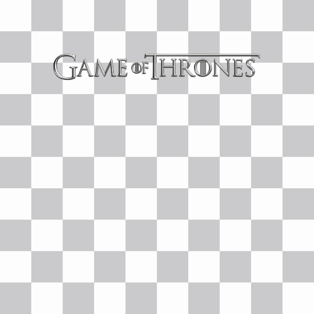 Logo de Game of Thrones à mettre sur vos photos pour