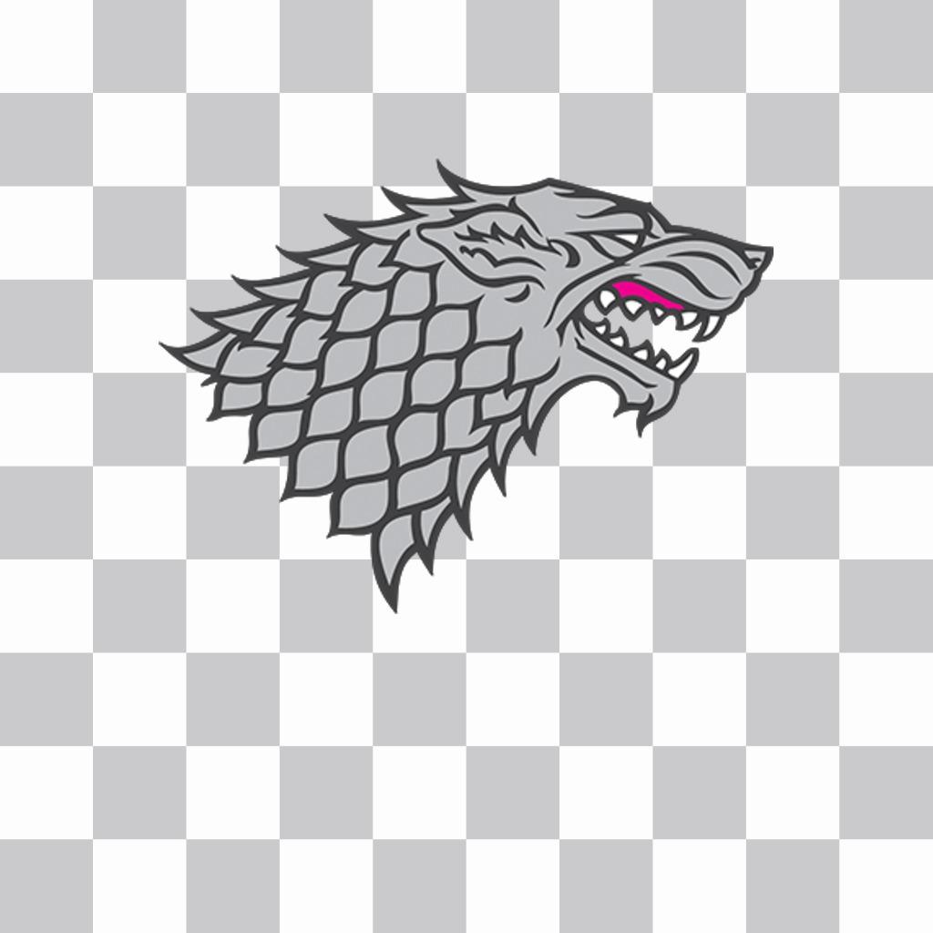Symbole du Loup Maison Stark à mettre sur vos photos