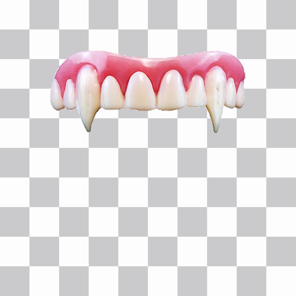 Des crocs de vampire à mettre sur vos photos et effrayer