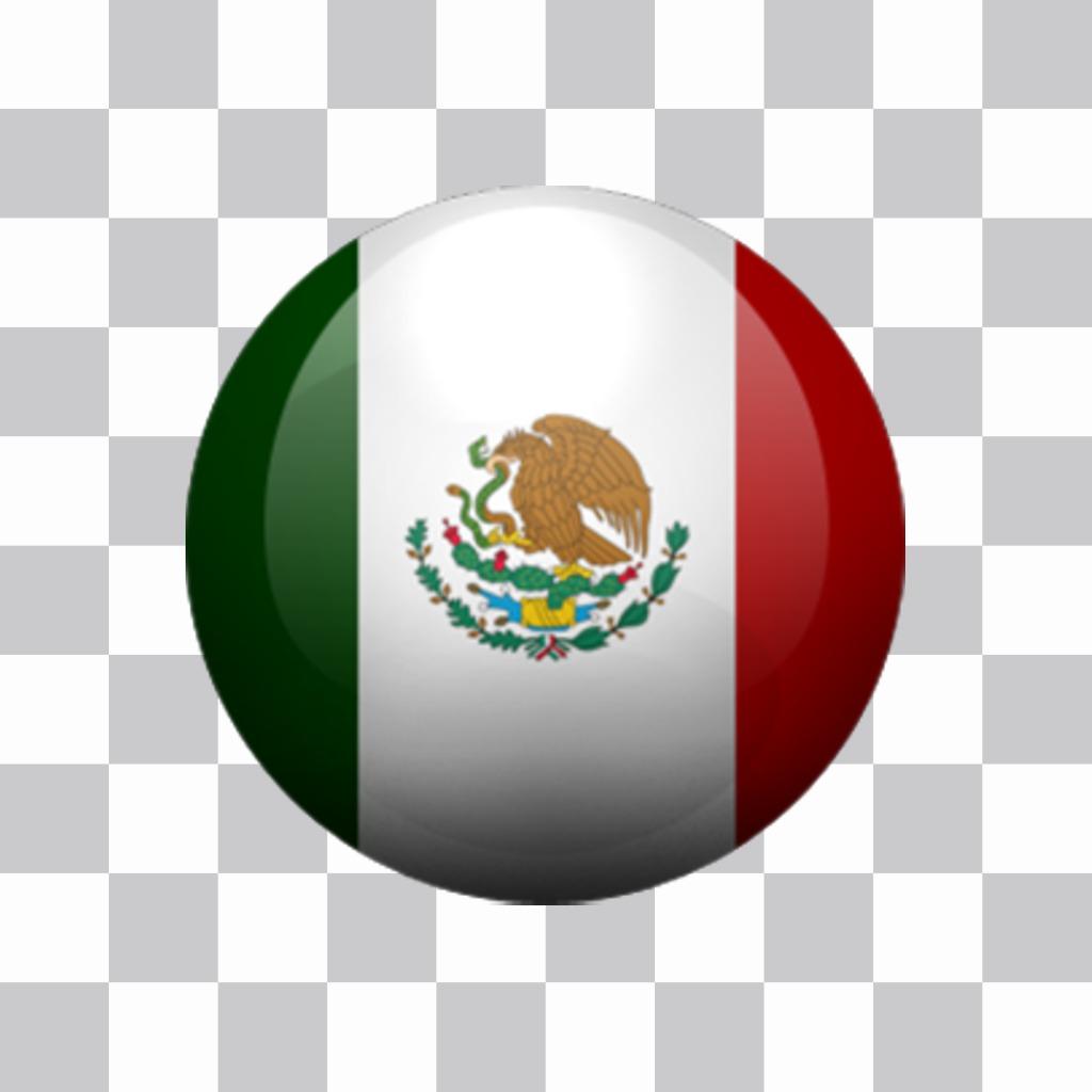 Boutons du Mexique pour ajouter vos photos