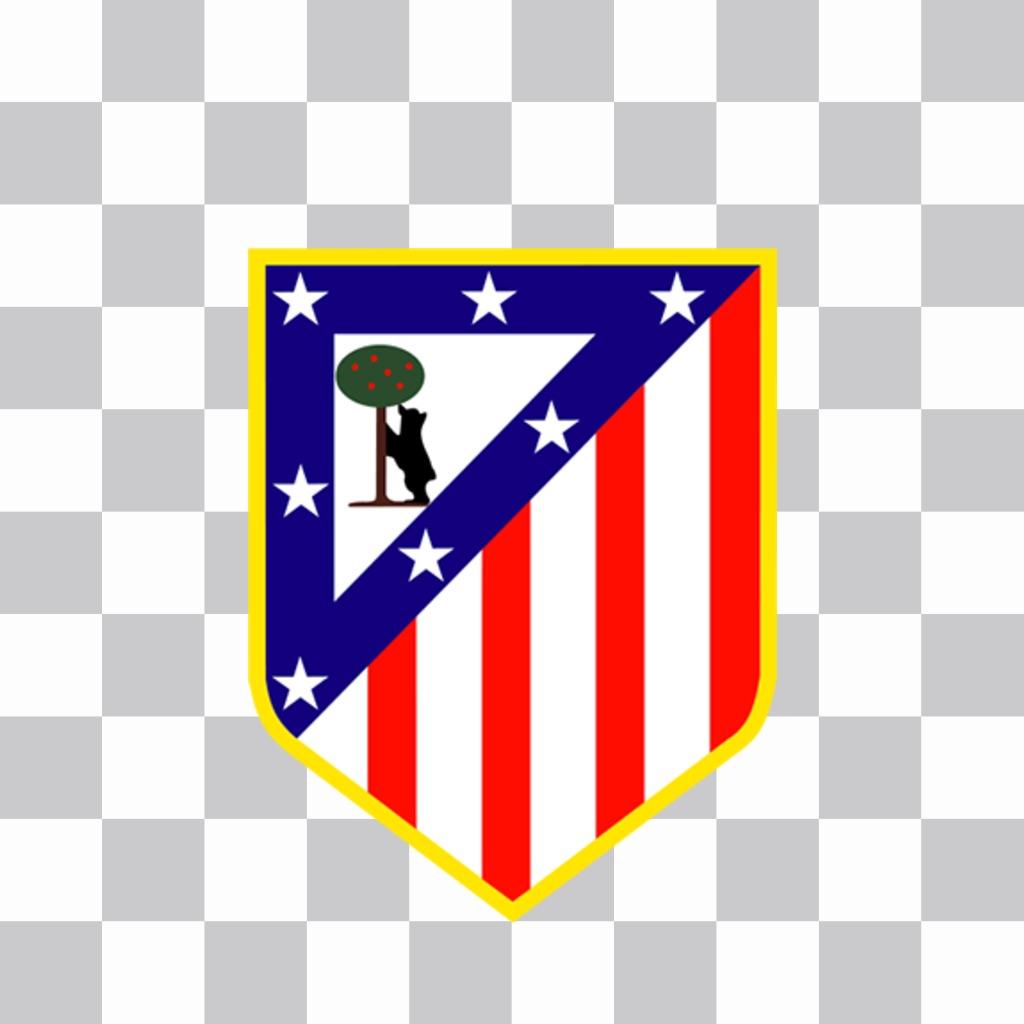 Atletico Madrid logo à mettre sur vos photos pour