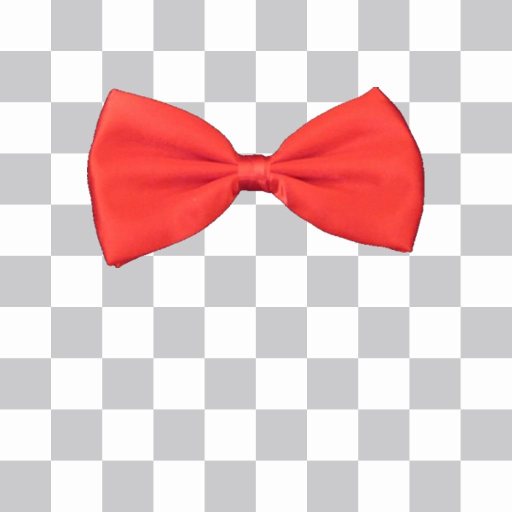 Cravate rouge à mettre sur vos photos avec cet effet de photo en ligne