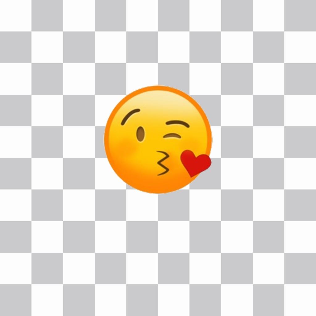 Autocollant pour coller le baiser émoticône sur vos photos pour