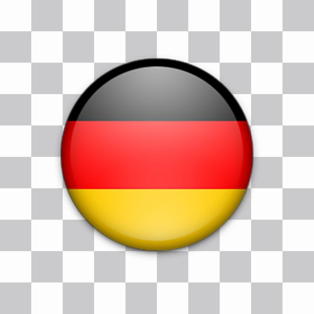 Sticker décoratif dun bouton avec le drapeau de lAllemagne