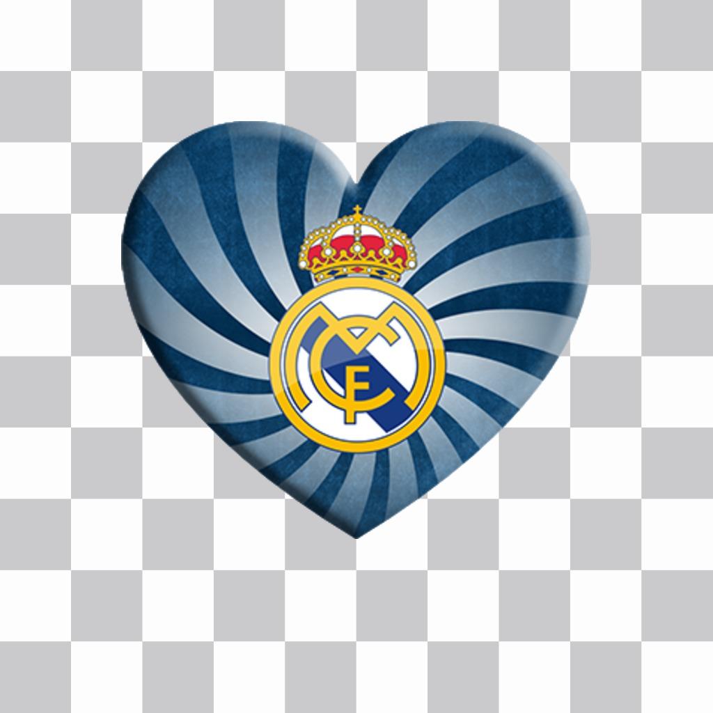 Coeur avec le Real Madrid bouclier à coller sur votre photo pour