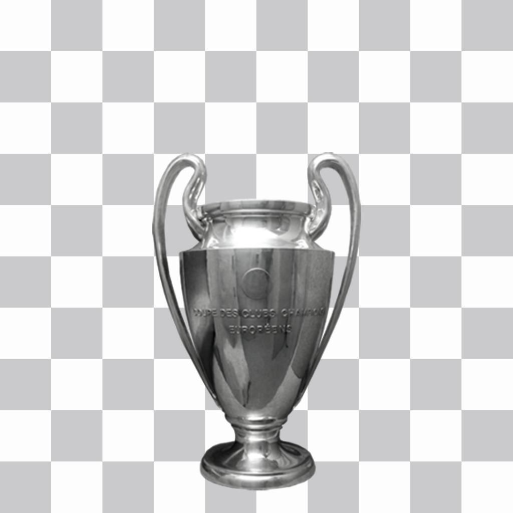Champions League Cup pour lajouter sur vos photos comme un sticker décoratif
