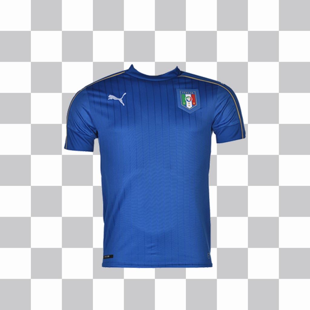 Effet photo pour coller le maillot de football de lItalie sur vos photos