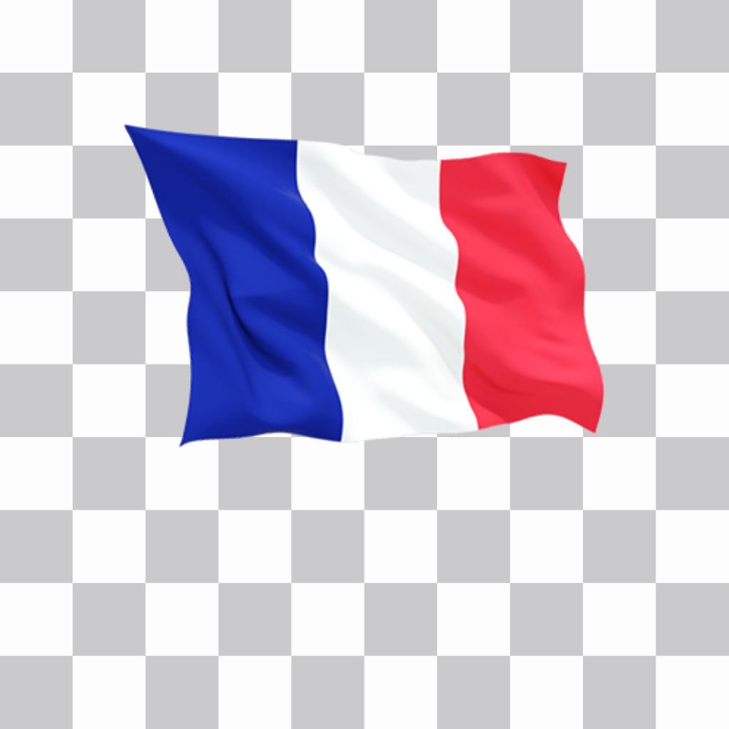 France flag agitant pour ajouter vos photos et décorer
