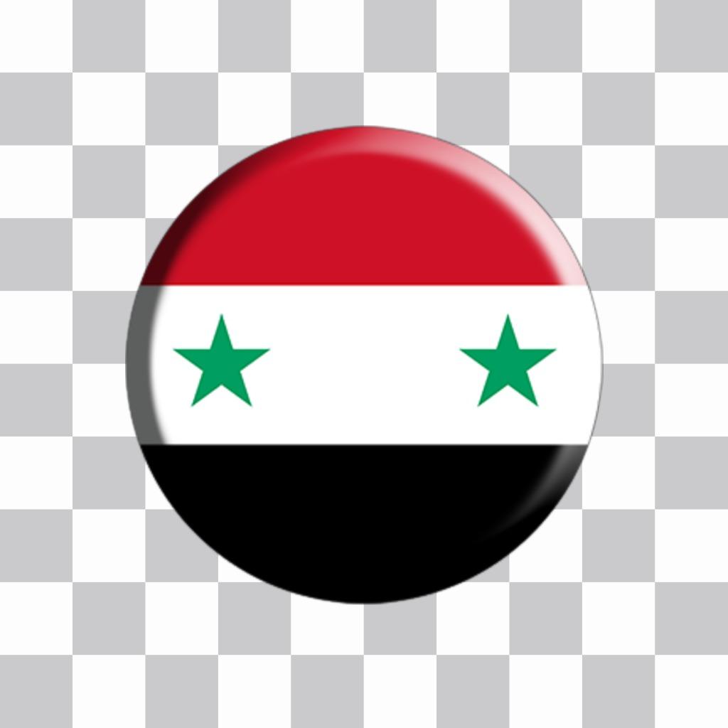 Bouton à coller sur vos photos avec le drapeau de la Syrie pour