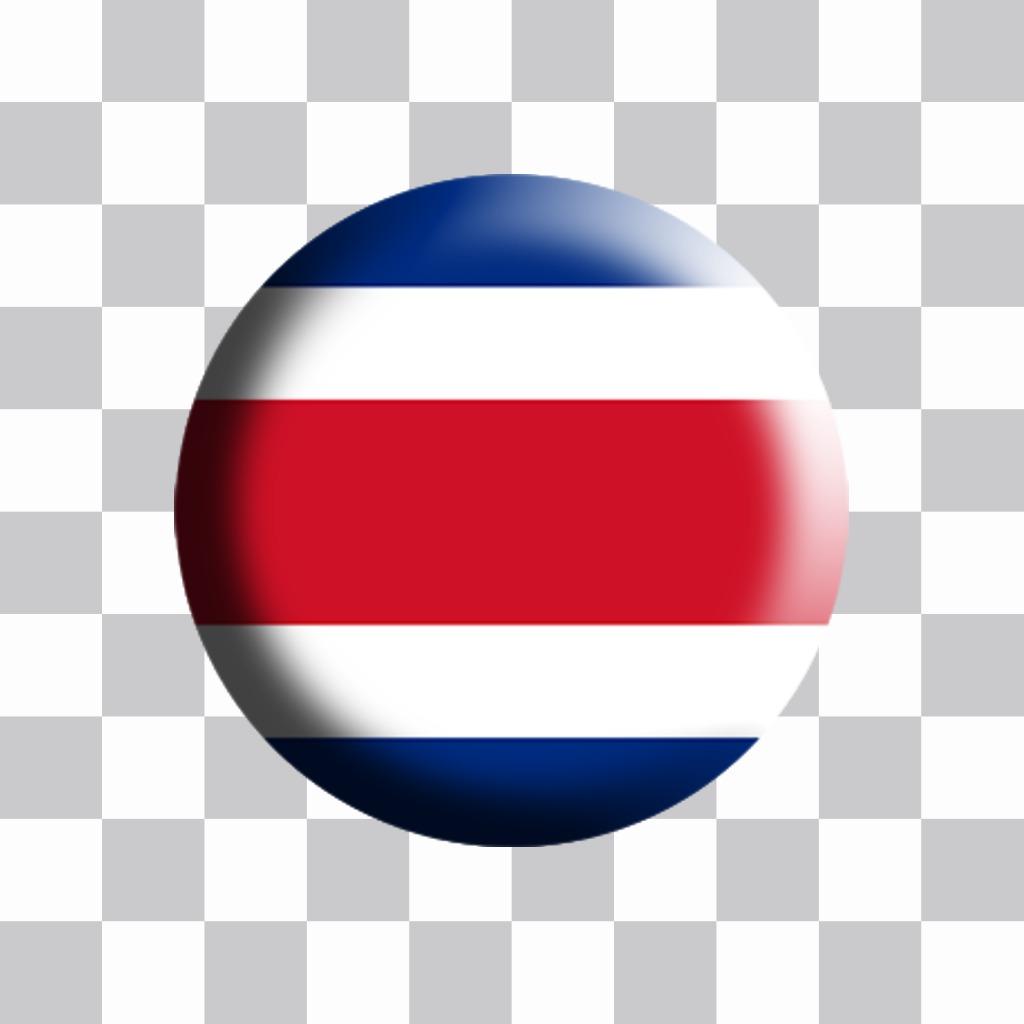 Drapeau Costa Rica en forme de plaque à ajouter à votre effet de photos
