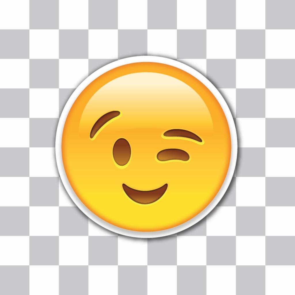 Wink Emoji pour insérer dans vos photos