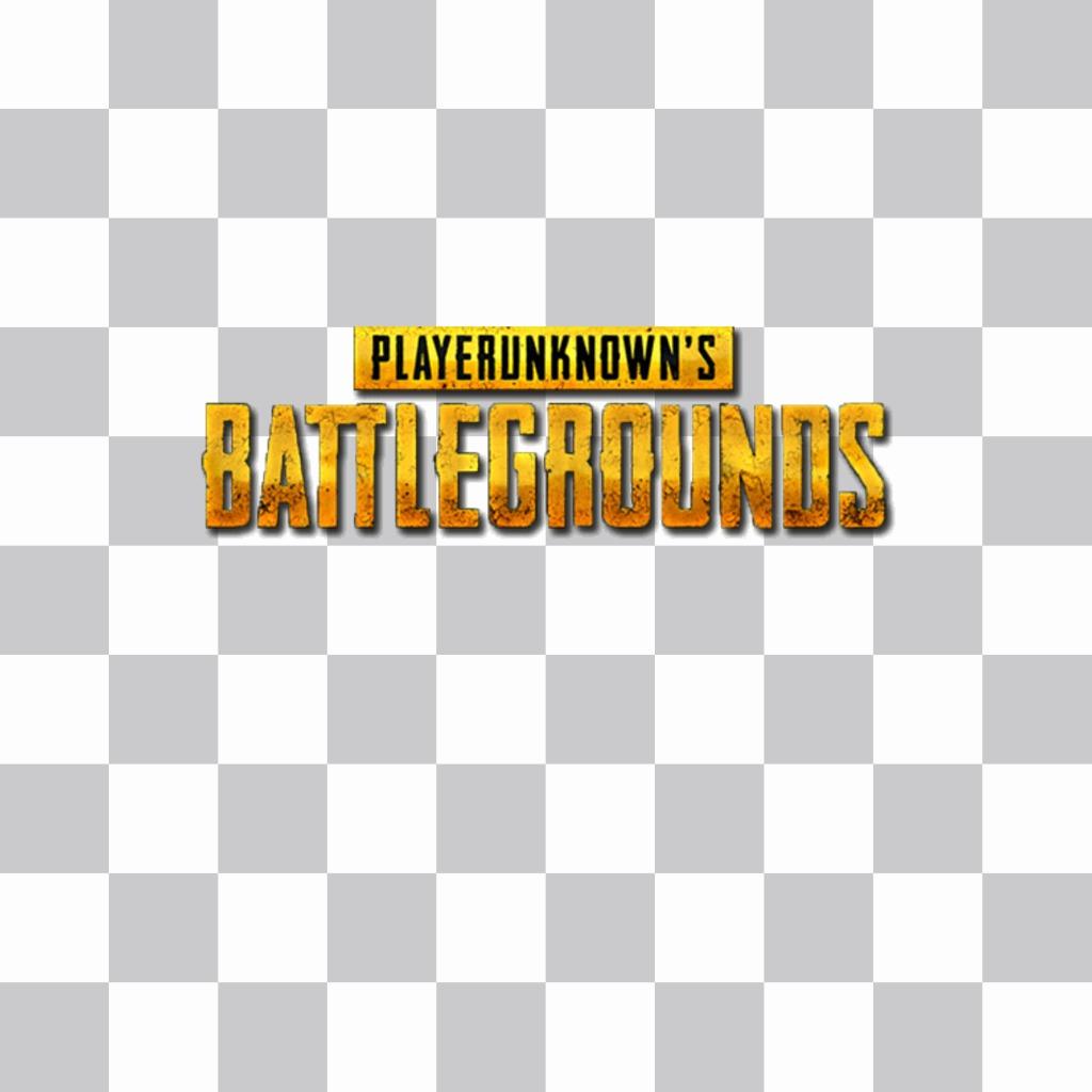 Mettez le logo du champ de bataille Player Unknown sur votre photo